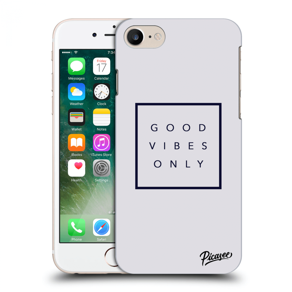 Picasee Apple iPhone 7 Hülle - Transparentes Silikon - Good vibes only