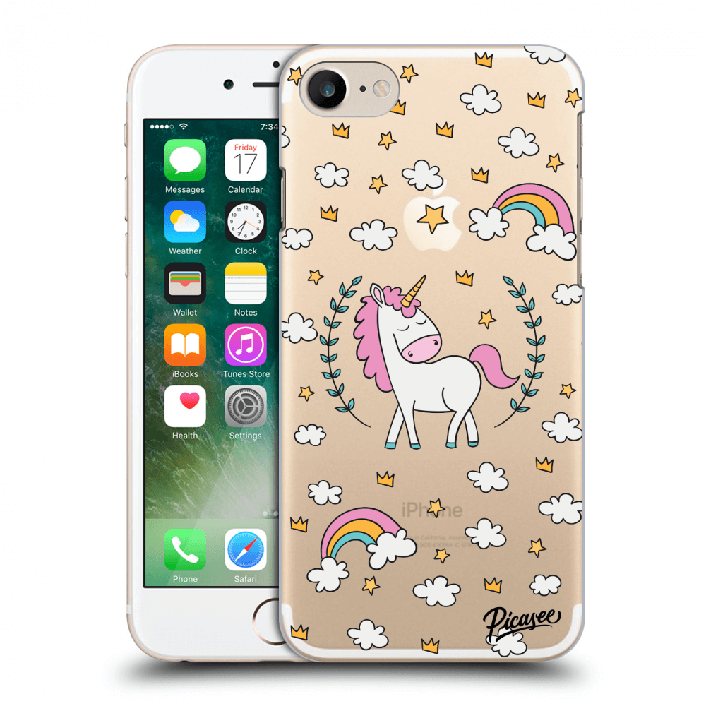 Picasee Apple iPhone 7 Hülle - Transparentes Silikon - Unicorn star heaven