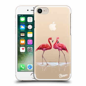 Hülle für Apple iPhone 7 - Flamingos couple
