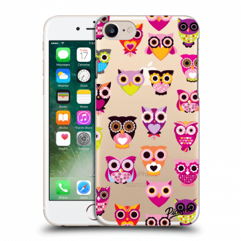 Picasee Apple iPhone 7 Hülle - Transparentes Silikon - Owls