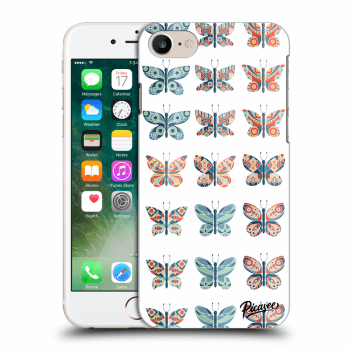 Picasee Apple iPhone 7 Hülle - Transparentes Silikon - Butterflies