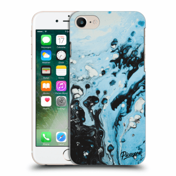 Picasee Apple iPhone 7 Hülle - Transparentes Silikon - Organic blue