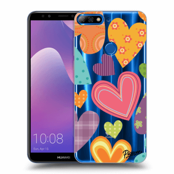 Hülle für Huawei Y7 Prime (2018) - Colored heart
