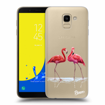 Hülle für Samsung Galaxy J6 J600F - Flamingos couple