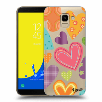Hülle für Samsung Galaxy J6 J600F - Colored heart