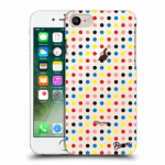 Picasee Apple iPhone 8 Hülle - Transparenter Kunststoff - Colorful dots