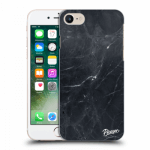 Picasee Apple iPhone 8 Hülle - Transparentes Silikon - Black marble