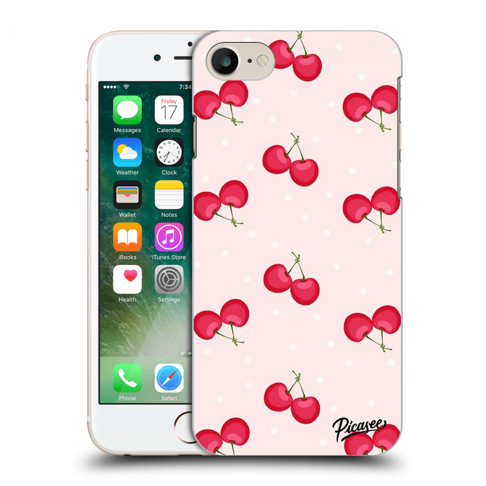 Picasee Apple iPhone 8 Hülle - Transparentes Silikon - Cherries