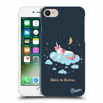 Picasee Apple iPhone 8 Hülle - Transparentes Silikon - Believe In Unicorns