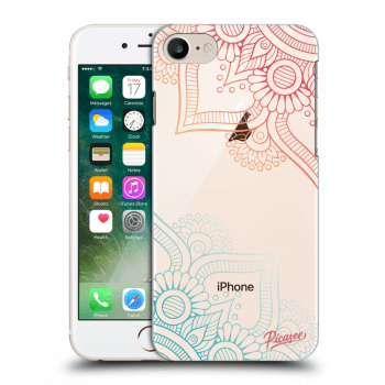 Picasee Apple iPhone 8 Hülle - Transparentes Silikon - Flowers pattern