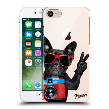 Picasee Apple iPhone 8 Hülle - Transparentes Silikon - French Bulldog