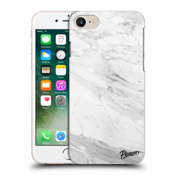 Picasee Apple iPhone 8 Hülle - Transparentes Silikon - White marble