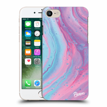 Picasee Apple iPhone 8 Hülle - Transparentes Silikon - Pink liquid