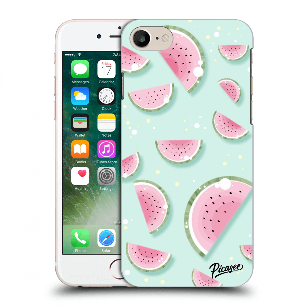 Picasee Apple iPhone 8 Hülle - Transparentes Silikon - Watermelon 2