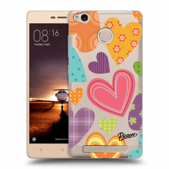 Hülle für Xiaomi Redmi 3s, 3 Pro - Colored heart