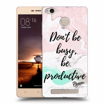 Hülle für Xiaomi Redmi 3s, 3 Pro - Don't be busy, be productive