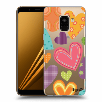 Hülle für Samsung Galaxy A8 2018 A530F - Colored heart