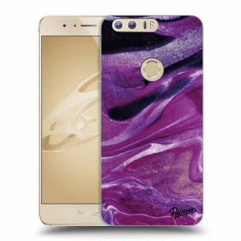 Hülle für Honor 8 - Purple glitter