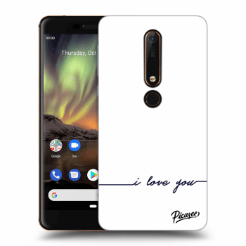 Hülle für Nokia 6.1 - I love you