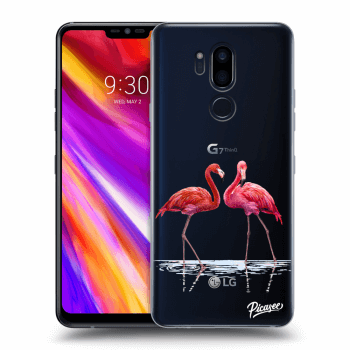 Hülle für LG G7 ThinQ - Flamingos couple