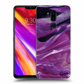 Hülle für LG G7 ThinQ - Purple glitter