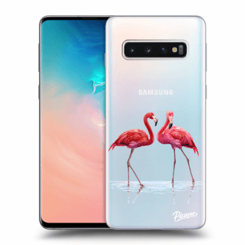 Hülle für Samsung Galaxy S10 G973 - Flamingos couple