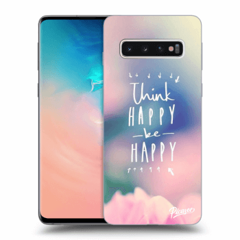 Hülle für Samsung Galaxy S10 G973 - Think happy be happy