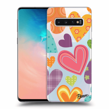 Hülle für Samsung Galaxy S10 G973 - Colored heart