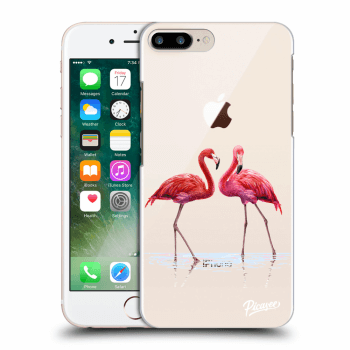 Hülle für Apple iPhone 8 Plus - Flamingos couple