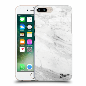 Hülle für Apple iPhone 8 Plus - White marble