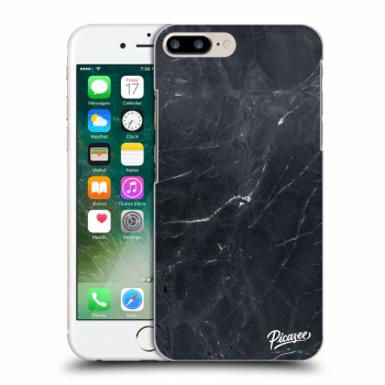 Hülle für Apple iPhone 8 Plus - Black marble