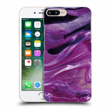 Hülle für Apple iPhone 8 Plus - Purple glitter