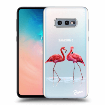 Hülle für Samsung Galaxy S10e G970 - Flamingos couple